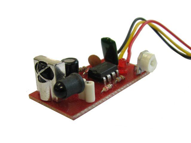 یک نمونه مدار ساخته شده فاصله یاب مادون قرمز